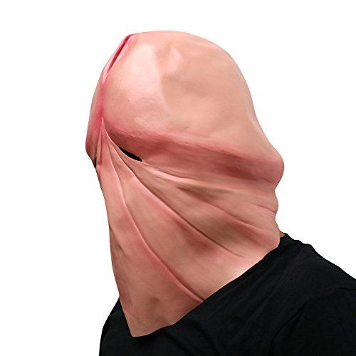 thematys Penis Dick Maske - perfekt für Fasching, Karneval & Halloween - Kostüm für Erwachsene - Latex, Unisex (Funny Fat Mann Kostüm)