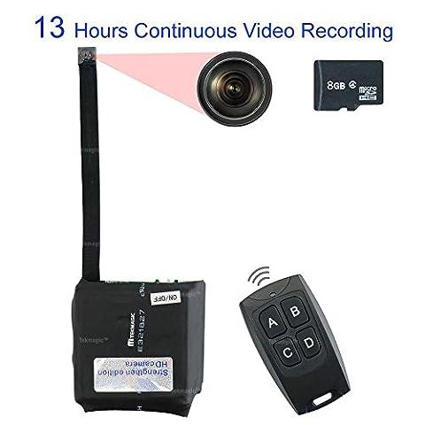 TEKMAGIC 8GB Mini Portable Caméra Espion Module Mouvement Détective DV Caméscope Soutien 13 Heures Continu Vidéo Enregistrement