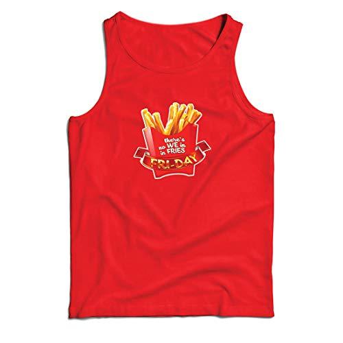 lepni.me Weste Es gibt Keine wir in Pommes Freitag Outfit Junk Food Liebhaber (XXX-Large Rot Mehrfarben)