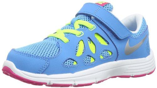 Nike Kids Fusion Run 2 599799-401 Mädchen Laufschuhe Blau (Vivid Blue/Metallic Silver-Volt Ice-Vivid Pink) 31 - Nike Kids Fusion