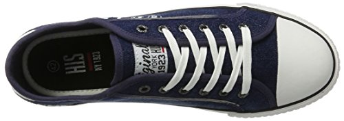 HIS 151-020, Sneaker Basse Uomo Blau (navy washed jeans)
