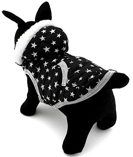 ranphy Hund Katze Jacke Hoodie für Welpen Yorkie Fleece gefüttert Winter Hundemantel Pet Sweatshirt für kleine Hunde unter 9kg (IT 'S Run Small, nehmen die nächste Größe bitte) - Dot Kleid Pudel