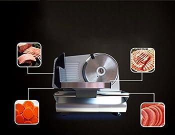 "Denshine 7.5"" Electric Stainless Steel Precision Food Slicer Meat Slicer Blade Machine For Commercial Restaurant Home Use 8"