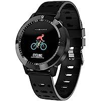 Reloj inteligente hombre,Miya Impermeable Inteligentecon Pulsómetro Pulsera Deportiva,Bluetooth Tactil Telefono Smart Watch Sport Fitness Tracker Smartwatches Pulsera,Compatible con el sistema iOS de Android--negro