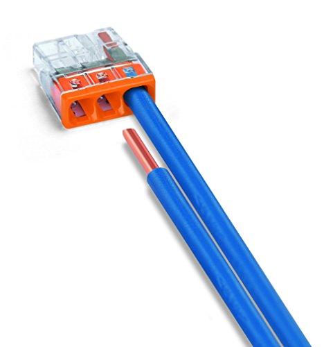 Wago 2273-203 Compact-Dosenklemme 3 x 0.5-2.5 qmm Nr.2273-203 100 Stück, orange - Bild 3