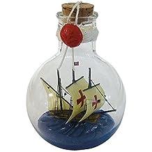 Flaschenschiff perfekt für die maritime Dekoration SANTA MARIA