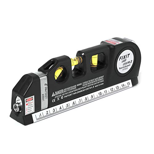 Qiulip La-ser Horizontal vertikal Maßband Maßband Standard und metrisches Lineal Mehrzwecklinieninstrument -