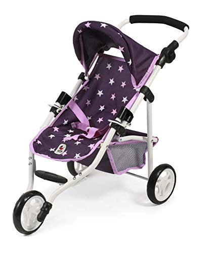Bayer Chic 2000 612 71 Jogging Buggy Lola, Puppenwagen, Stars lila