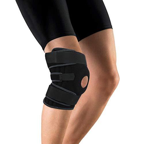 Zilee Unisex Knieschoner Einstellbar Knieschutz Knieorthese Unterstützung für ACL,MCL,Rehabilitierung und Schutz von Sportverletzungen,Volleyball,Basketball,Klettern -
