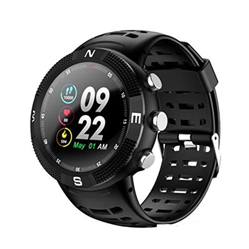 13D Bildschirm F18 Smart Watch GPS wasserdicht Touchscreen Watch schwarz (Nachricht Braclets)