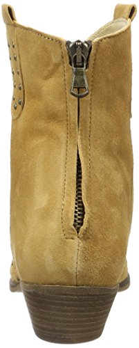Mentor Damen Back Zip Ankle Boot Cowboy Stiefel Braun (Light Brown)
