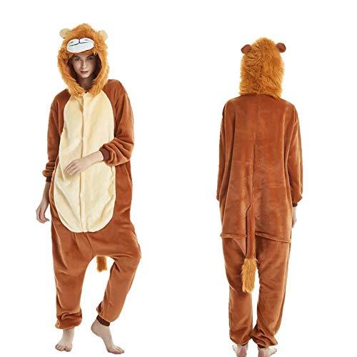 homesave Homesave Animal Lion Pyjamas Unisex Erwachsene Cosplay Kostüme,S