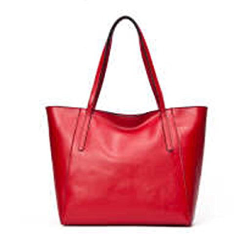 WU Zhi Lady In Pelle Big Bag Borsa A Tracolla Red
