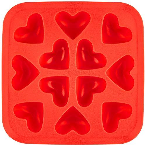 Fairly Odd Novelties Herzförmige flexibel 12 Eiswürfelform Geschenkset Manschettenknöpfe Roter Gummitip Gag