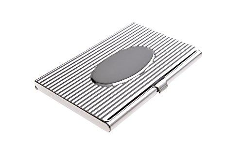 -halter aus hochwertigem Edelstahl, im Stil der 20er Jahre mit Rillenmuster und poliertem Oval, Mod. 318 (DE) ()