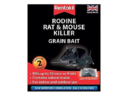 Rentokil Rodine souris et rat Killer Grain Appât Lot de 2 sachets