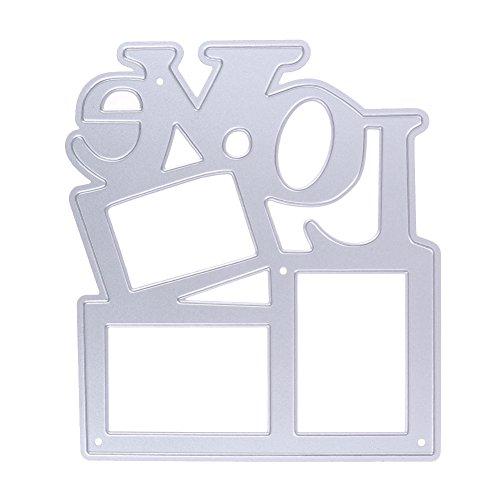 Demiawaking Figura di Cornice del Stampino Metallo di Artigianale Incidere Tagliare Scrapbooking Stencil per La casa Decorazione Segnalibro Murale Fai Da Te Foglio da Abbellimento Adesivo da Parete Scheda o Carta Decorativa Cartolina d'Auguri - Metallo Stencil