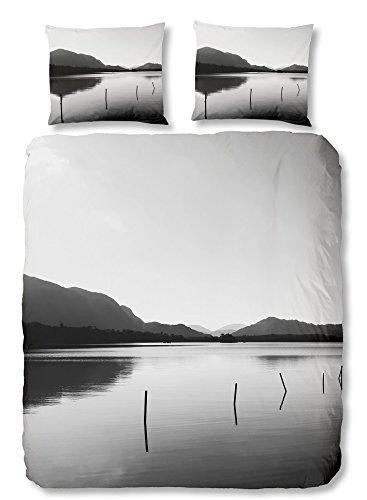 Good Morning 5088-P Landscape Parure de Couette Coton Gris 240 x 220 cm