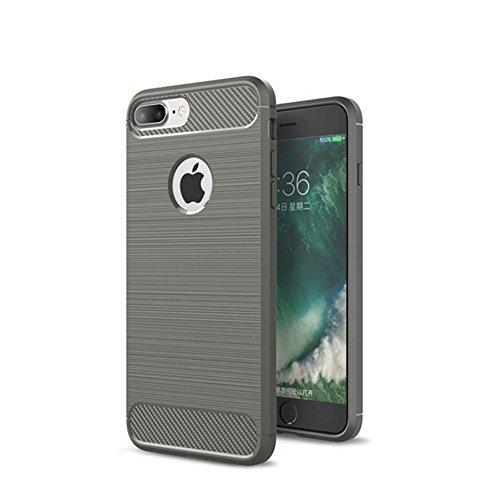 AVIDET Premium TPU Souple Etui de Protection [Ultra mince] [Poids léger] [Anti-rayures] pour iPhone 8 Plus (Gris) Gris