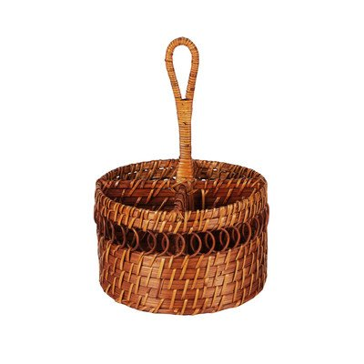 caribbean-joe-rattan-round-caddy-honey
