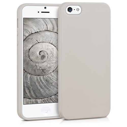 kwmobile Apple iPhone SE / 5 / 5S Hülle - Handyhülle für Apple iPhone SE / 5 / 5S - Handy Case in Beige matt