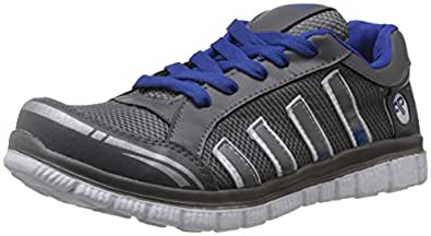 Provogue Men's Grey and Blue Mesh Running Shoes - 10 UK