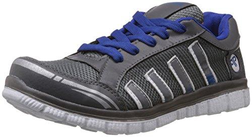 Provogue Men's Grey and Blue Mesh Running Shoes - 7 UK