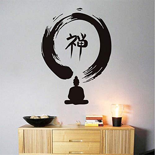 Mddjj Wandaufkleber Zen Zeichen Buddhismus Indische Beliebte Home Decor Removable Vinyl Wand Dacal Aufkleber Klebstoff Waterproof58X78Cm Wohnzimmer Kinderzimmer