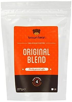 Brown Bear Original Blend Medium Dark Roast Whole Bean Coffee