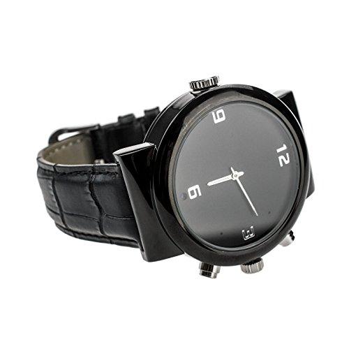 KOBERT GOODS - Armbanduhr mit integrierter Full HD Mini-Kamera (A5) - Cam (12Mio. Pixel) für Video - & Fotoaufnahmen inkl. Ton - mobile Langzeitüberwachung mit Bewegungserkennung & Infrarot-Nachtsicht Armbanduhr Video