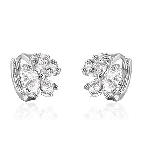 X & Y ANGEL Fashion 2015Cristal Plaqué Or 18K brillant rond Boucles d'oreilles à tige pour femme Erz0541