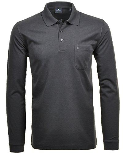 Ragman Herren-Poloshirt, Anthrazit, XXL -