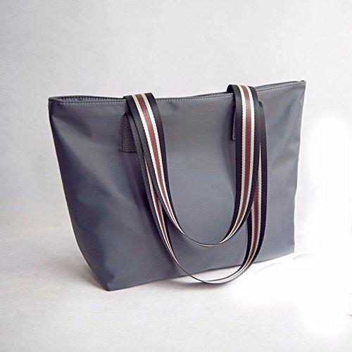 GUMO-Borsa da spiaggia, borsetta, nylon, borsa di tela, impermeabile, Oxford tessuto, sacchi, borse tracolla,grigio gray