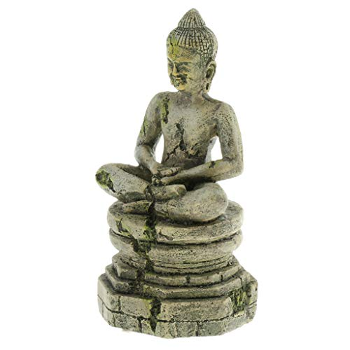 perfk Reptilien Terrarium Dekoration für Schildkröten Geckos Eidechsen - Buddhastatue
