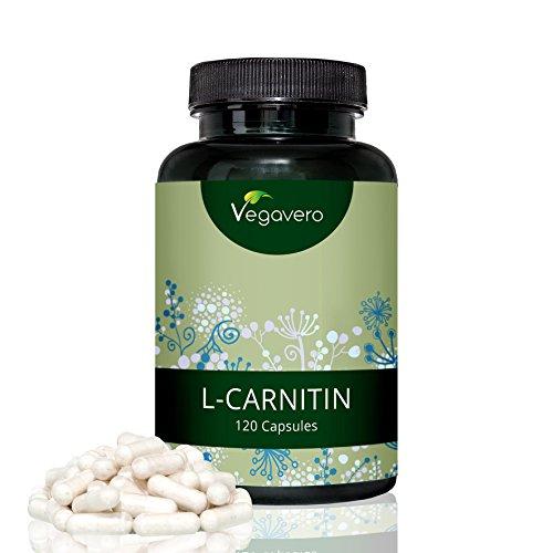 L-Carnitin Hochdosiert Vegavero | 99,4% rein | aus Tartrat für optimale Aufnahme und Verträglichkeit | 120 vegane Kapseln | Vegan und OHNE chemische Zusätze wie Magnesiumstearat