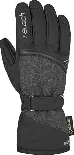 Reusch Damen Alexa GTX Handschuh, Black/Black Melange/Silver, 8