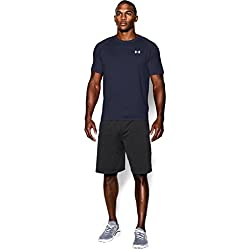 Under Armour Ua Tech Ss Tee, Camiseta De Fitness Hombre, Azul (Midnight Navy/White), M