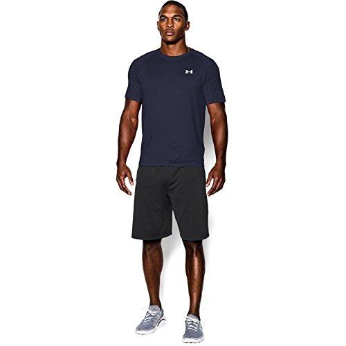 Under Armour Herren UA Tech Ss Fitness T-Shirt, Blau (Midnight Navy), M (Herren Navy Shirt Blau)