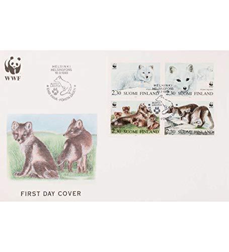 Goldhahn Finnland Nr. 1202-1205 FDC Ersttagsbrief WWF Tiere Briefmarken für Sammler -