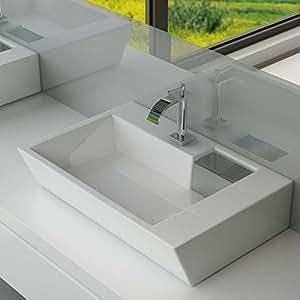 design keramik waschtisch aufsatz waschbecken waschplatz f r badezimmer g ste wc a67. Black Bedroom Furniture Sets. Home Design Ideas