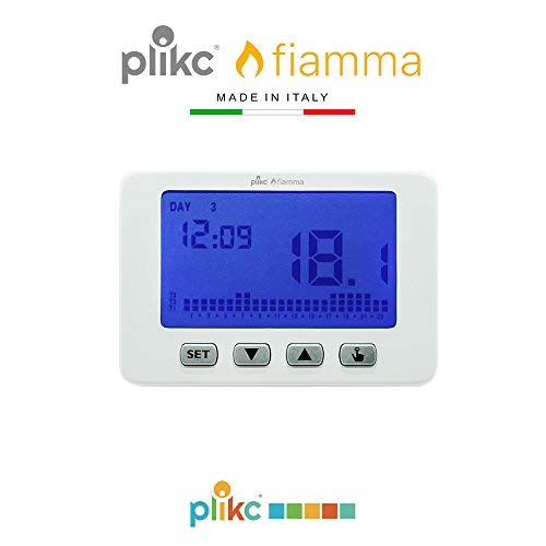 Cronotermostato digitale da parete a batterie settimanale - Plikc FIAMMA PLK267603