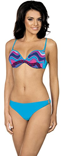 Lorin Bikini Push Up Set per Donna R5011 Blu (Modello-v1)