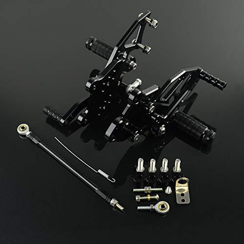 JFG RACING Motorrad rearsets CNC verstellbar Hinten Fußrasten Fußstütze für Kawasaki Ninja 300250Z2502013201420152016