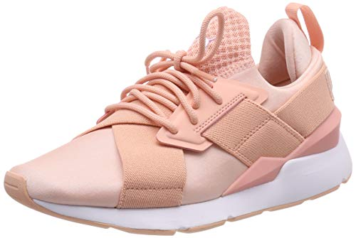 Puma Damen Muse Satin EP WN'S Sneaker, Orange (Peach Bud-Peach Bud 12), 39 EU (6 UK)