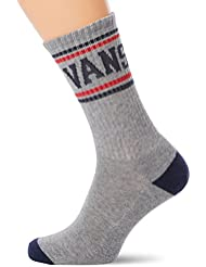 vans Herren Sportsocken Classic Stripe Crew, Mehrfarbig (Heather Grey Htg), One Size