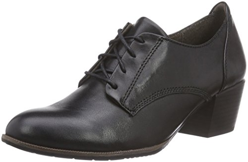Jana 23303, Damen Derby Schnürhalbschuhe, Schwarz (schwarz (BLACK 001)), 38 EU (5 Damen UK)