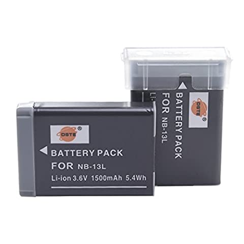 DSTE® 2x NB-13L Rechargeable Li-ion Battery Pack for Canon PowerShot G7X Digital Camera