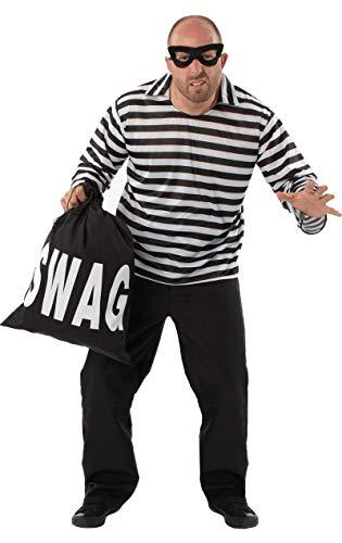 Herren Einbrecher Bill Räuber Dieb Kriminelle Karneval Verkleidung Kostüm ()