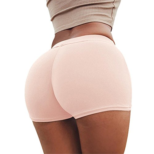 Sommer Shorts Hosen BURFLY Frauen Shorts Gym Workout Bund dünne Yoga Hose (S, Rosa) (Control Top Leg Strumpfhose)