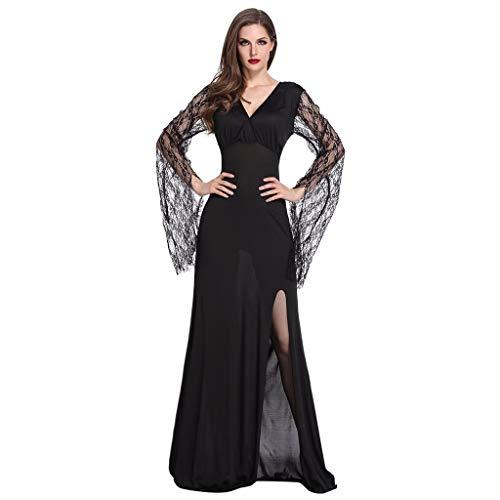 Sexy Strass Hexe Kostüm - JXQ-N Damen Hexen Kostüm V-Ausschnitt